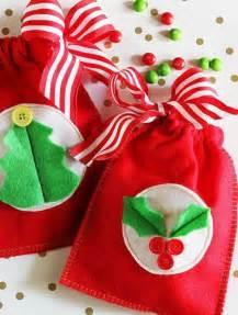 christmas gift bag como hacer bolsitas de regalos navideños todo manualidades