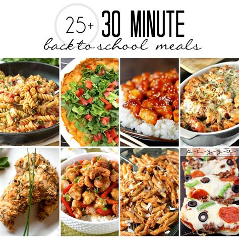 minute cuisine 30 minute meals to back to easy food