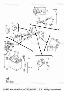 Yamaha Motorcycle 2012 Oem Parts Diagram For Electrical