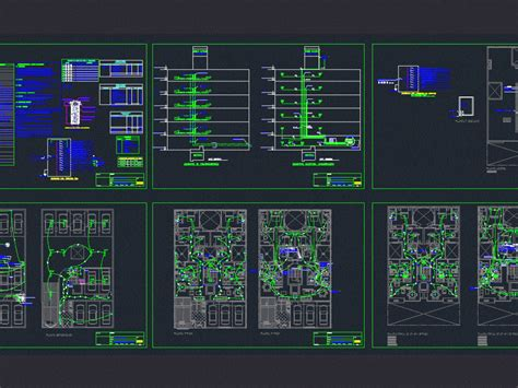 multi electrical installations dwg detail  autocad