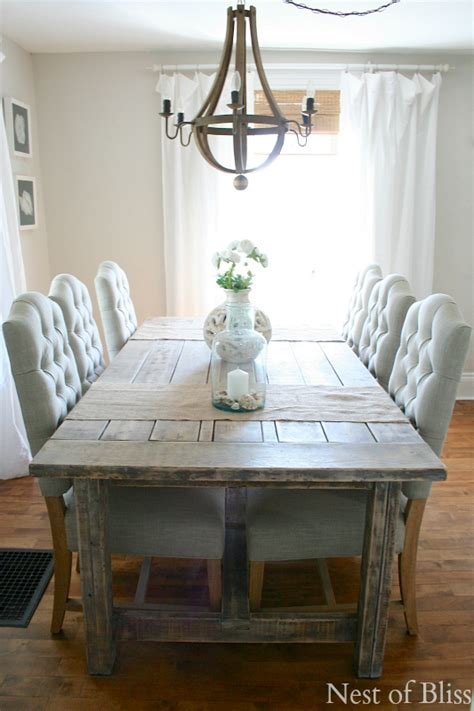 coastal farmhouse dining room the plush chairs with