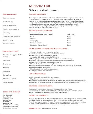 Resume For College Student With No Work Experience by Sle Resume With No Work Experience 7 Exles In