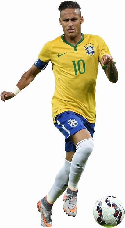 Neymar Football Render Athlete Brazil Transparent Jr