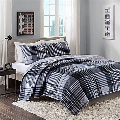 Pantone Nathan Bed Set intelligent design nathan quilt set in black bed bath