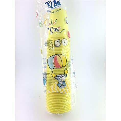 bicchieri usa e getta bicchieri usa e getta pz 50 gialli