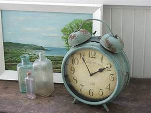 Farmhouse, Musings, Antique, Blue, Vintage, Style, Metal, Clocks, Are, In, Stock