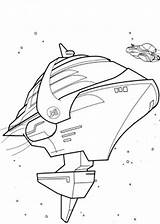 Coloring Spaceship Pages Rock sketch template