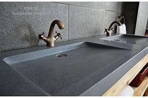 1600mm double sink bathroom real granite stone basin sink for Vasque salle de bain granit