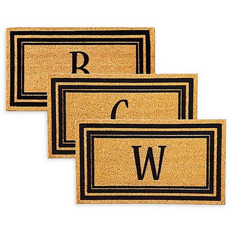 Doormat Inserts by Rubber Door Mat Frame And Flocked Monogram Letter Inserts