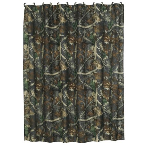 oak camouflage shower curtain