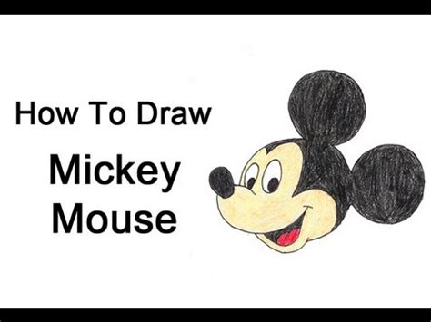 draw mickey mouse youtube