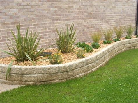 backyard ideas on retaining walls outdoor