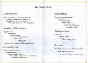 White House Mess - Breakfast and Lunch at the White House