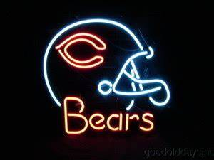 NFL CHICAGO BEARS Football Helmet Neon Sign 19