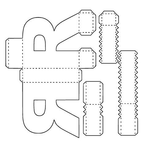 molde para letras e n 250 meros 3d kamilla rosa elo7