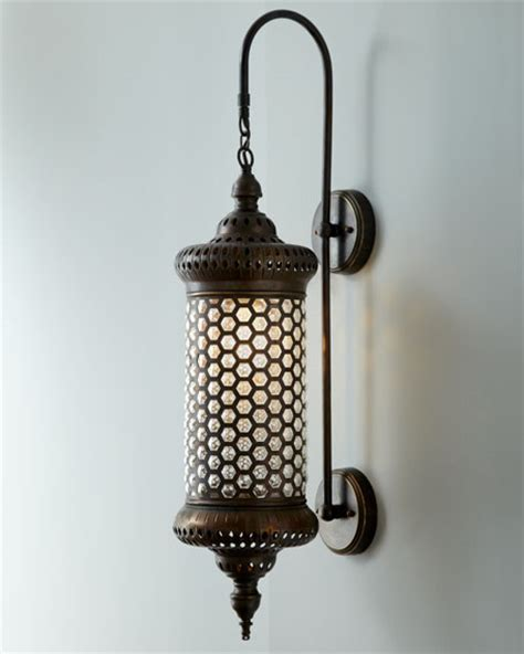 outdoor candle sconces quot moroccan quot metal sconce