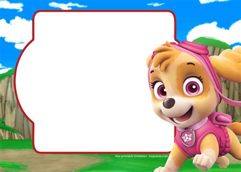 free paw patrol invitation template complete collection