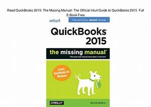 Read Quickbooks 2015  The Missing Manual  The Official