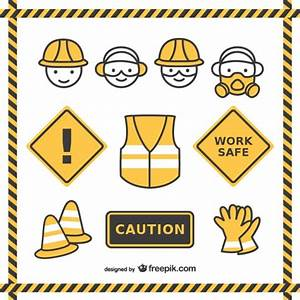 Safety drawings pack Vector Free Download