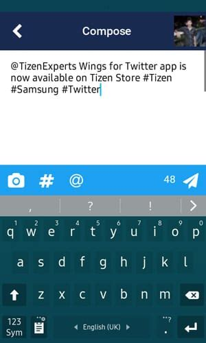 smartphone app wings for a new client released in tizen store tizen experts