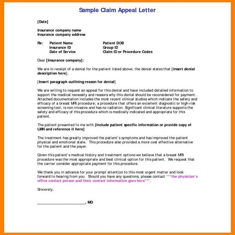 Header first of all, you need to write down your information such as your full name and your address. Appeal Letter for Insurance Denial Sample Health Life Claim of to s Successful 19787 - Ledger Review