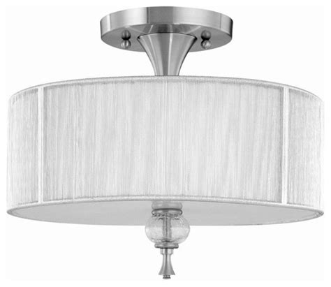 bayonne 3 light semi flush fixture in brushed