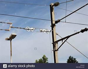 Pulley system used to tension overhead catenary or ...
