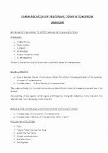 English worksheets: COMMUNICATION OF YESTERDAY, TODAY AND ...