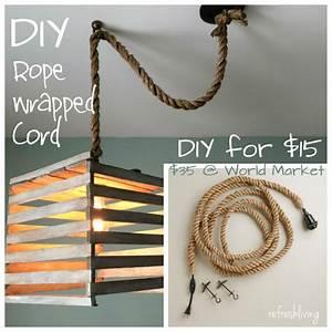 Diy rope pendant cord refresh living