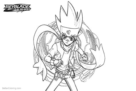 Beyblade Burst Evoluion Coloring Pages Ginka Hagane