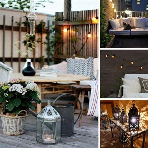 Ideen Für Romantische Balkon Beleuchtung Laternenaus Holz
