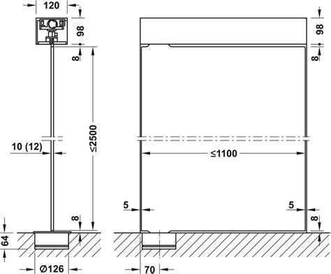 Patch fitting for double action doors, Visur, Dorma Glas ...