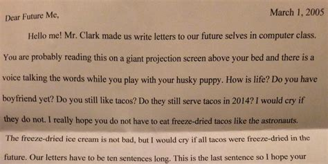 letter to future self template fifth grader s letter to future self proves the eternal relevance of tacos