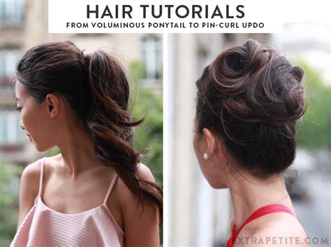 easy formal hairstyle tutorials  voluminous ponytail