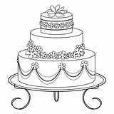 Cake Stamps Digi Digital Birthday Coloring Pages Cakes Wedding sketch template