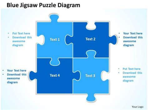 blue jigsaw puzzle diagram powerpoint templates