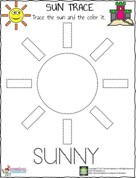 Sun Tracing Worksheet – Preschoolplanet