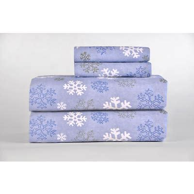 pointehaven printed flannel king size sheet dusty