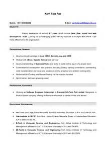 resume for 4 years experience resume with 7 months internship experiance in java