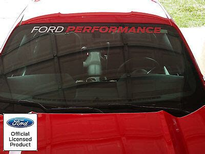 mustang gt ford performance windshield banner