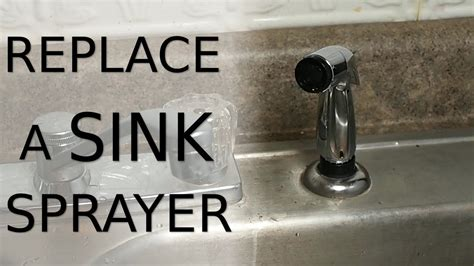 how to replace spray hose on kitchen sink replace a sink sprayer 9834