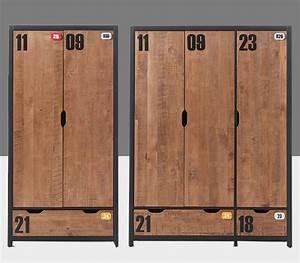 Armoire Metallique Chambre Ado : armoire industrielle chambre ~ Melissatoandfro.com Idées de Décoration