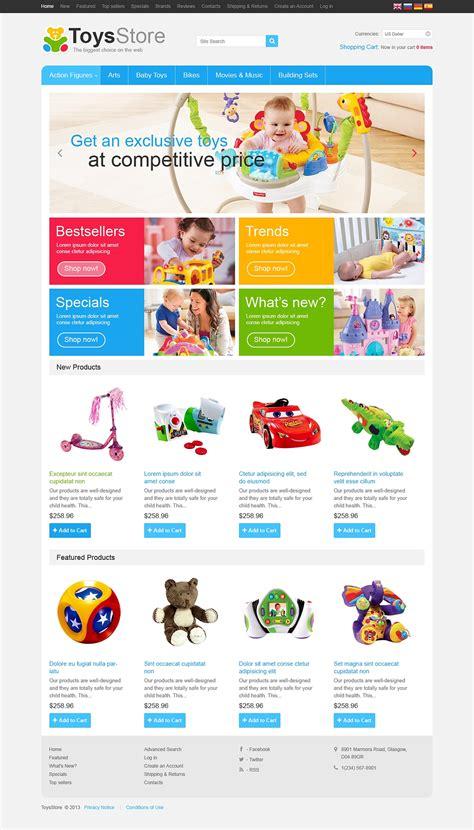 la mejor tienda template drupal plantilla oscommerce 46349 para sitio de tienda de juguetes