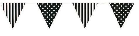 paper bunting pennant flag paper garland birthday decorations polka dot decorations