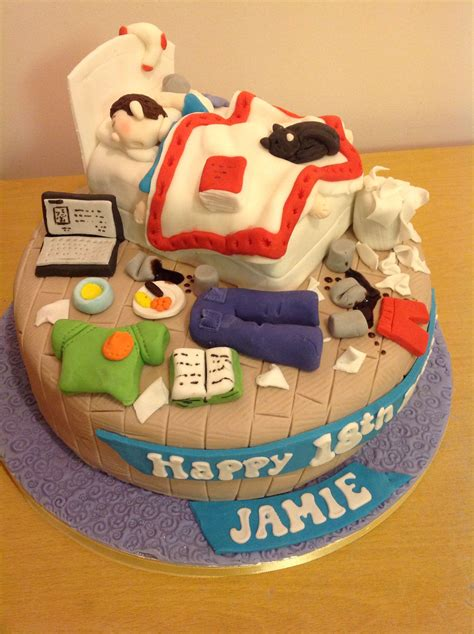 teenage messy bedroom cake cakes    birthday