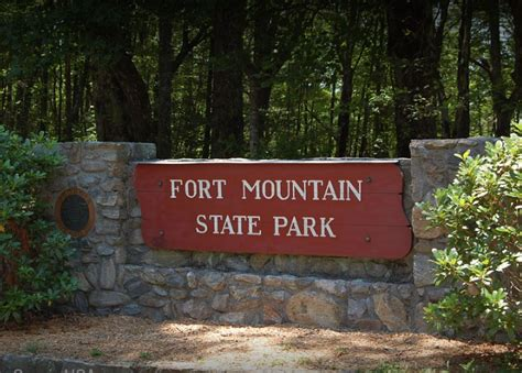 Bike tr ailhead permit required clif f mine road fort mtn. Fort Mountain State Park Campground - 4 Photos ...