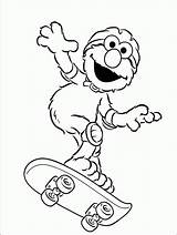 Elmo Coloring Activity Skateboard Printable Toddler Children Skate Board Toddlers Childrens Kid sketch template