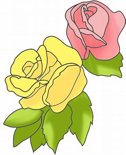 Yellow Rose Flower Clipart Pink Clip Border