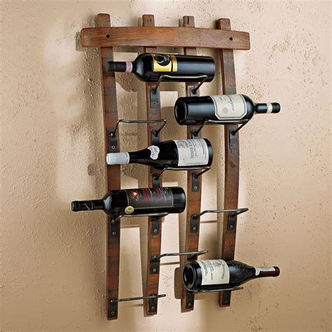 wine rack wall 9 bottle barrel stave wall wine rack vino grotto