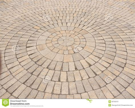 circular paving patterns radial paving stone pattern stock image image of brick interlocking 50155213